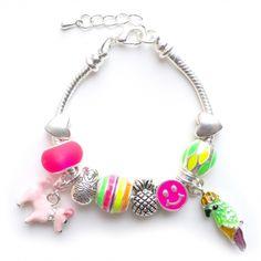 Girls' tropical summer charm bracelet : for my girl