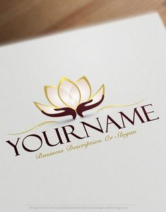 Exclusive Logo Design: Lotus Flower Logo Images + FREE Business Card Ready-made-Exclusive-design-with-a-Lotus-Flower-logo-image - Women Art Double Sided Business Cards, Free Business Cards, Business Card Logo, Business Card Design, Massage Logo, Flower Logo, Lotus Flower, Design Lotus, Logo Mano