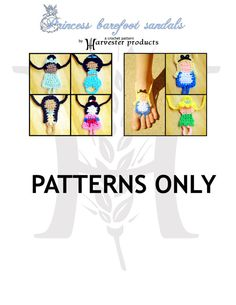Disney styled Princess Barefoot Sandals by HarvesterProducts, $9.95 Tiana, Jasmine, Pocahontas, Mulan, Alice, and Tinkerbell