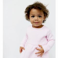 Better than a sweatshirt, because it's a sweatshirt dress — we really love our crossover/hybrid styles. Sweatshirt Dress, Crossover, Little Girls, Organic Cotton, Sweatshirts, Mini, Baby, Collection, Color