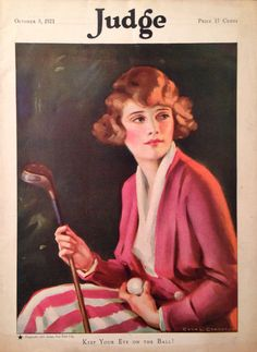 Judge Magazine Oct 1921 Lady Golfer Cover