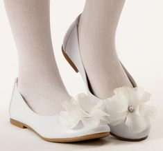 Lucy First Communion Shoe, white for 1st Communion or Easter from CatholicSupply.com