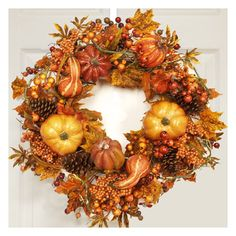 "24"" Fall Leaves Wreath"