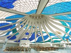 yet another view of Brasilia's Cathedral by Oscar Niemeyer