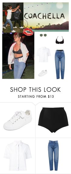 """""""Outfit #780 Selena Gomez"""" by nmr135 ❤ liked on Polyvore featuring Ash, Tavik, Monki, Miahatami, Yves Saint Laurent, Ray-Ban, StreetStyle, selenagomez, coachella and theweekend"""