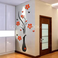 Botanical Wall Stickers 3D Wall Stickers Decorative Wall Stickers,Vinyl Material Home Decoration Wall Decal - USD $8.99 ! HOT Product! A hot product at an incredible low price is now on sale! Come check it out along with other items like this. Get great discounts, earn Rewards and much more each time you shop with us!