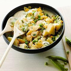 A classic potato salad with a fresh spring twist