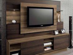 estante home linea brasil - kd Tv Cabinet Design, Tv Wall Design, Tv Unit Design, Tv Unit Decor, Tv Wall Decor, Bedroom Cupboard Designs, Living Room Designs, Salas Home Theater, Home Para Tv