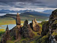 Mountains on Hebrides island