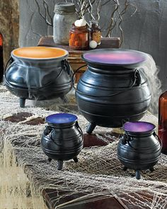 Witch's Cauldron  Create a magical air with creepy cauldrons bubbling over with charm.    How to Make a Cauldron Filled with Witches' Brew    Buy Cauldrons from Martha Stewart for Grandin Road