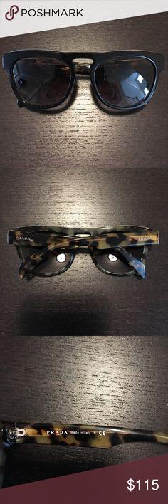 PRADA Sunglasses PRADA sunglasses. NO CASE! black and brown tortoise. Worn once. Perfect condition. Will ship wrapped secure since no case. Prada Accessories Sunglasses