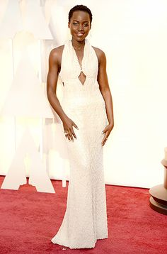 Lupita Nyong'o always knocks it out of the park. I LOVED this pearl encrusted dress. She has natural style and grace. #oscars2015 http://blamehelenabooks.blogspot.com