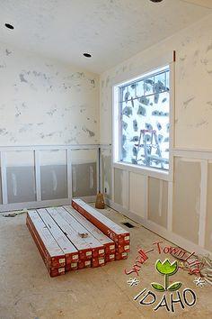 3 Impressive Cool Tricks: Wainscoting Backsplash Board And Batten wainscoting backsplash kitchen.Wainscoting Mudroom Interiors wainscoting dining room board and batten. Basement Wainscoting, Picture Frame Wainscoting, Wainscoting Height, Black Wainscoting, Painted Wainscoting, Dining Room Wainscoting, Wainscoting Panels, Wainscoting Nursery, Wainscoting Ideas