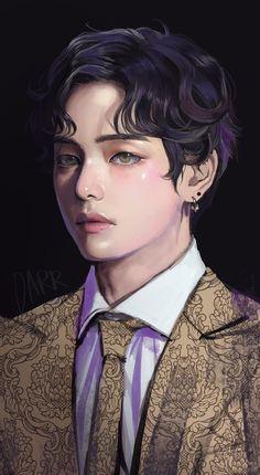 Drawn by  Bts Chibi, Bts Taehyung, Taehyung Fanart, Jimin Fanart, Kpop Fanart, Foto Bts, Bts Photo, Bts Anime, V Bts Wallpaper