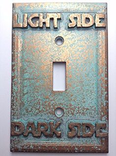 Star Wars (Light/Dark Side) Light Switch Cover (Custom) (Aged Patina) Sci-Collectables http://www.amazon.com/dp/B018QCARCO/ref=cm_sw_r_pi_dp_8z71wb0WN4EC6