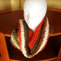 Crocheted Cowl Neck Warmer Muffler Circle Scarf by CinfulArt