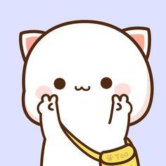 Funny Phone Wallpaper, Bear Wallpaper, Chibi Cat, Cute Kawaii Drawings, Couple Wallpaper, Anime Japan, Cute Images, Cute Gif, Cat Art