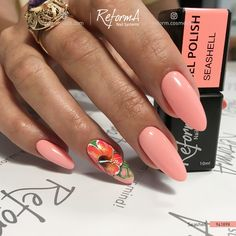 Summer is a state of mind. and nails! Classy Nail Designs, Nail Art Designs, Polygel Nails, Manicure, Seashell Nails, Almond Nails Designs, Acrylic Gel, Gorgeous Nails, Nail Tech