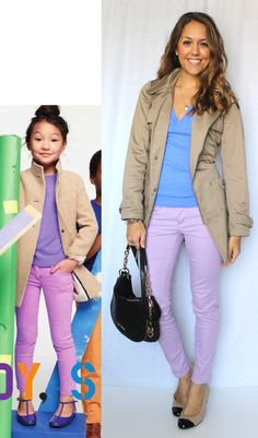 Love this outfit and the fact that she wasn't afraid to mimic a cute kid's outfit!