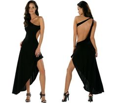 Cute...black backless party dress