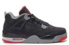 4554651f55e Cheap Air Jordan 4 Retro Black Cement Grey Fire Red Men's Basketball Shoes  Nike Free Run 3 -