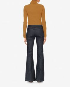 A stylish pair of Adriano Goldschmied -The Janis- Jeans. A high-waisted silhouette with a slim fit through the knee and a wide, flared hem. AG patch on waistband (Tonal Society Wash-TSYZ). Flare Leg Jeans, Ag Jeans, Adriano Goldschmied, Bell Bottom Jeans, Slim, Boutique, Dark, Stylish, Pants