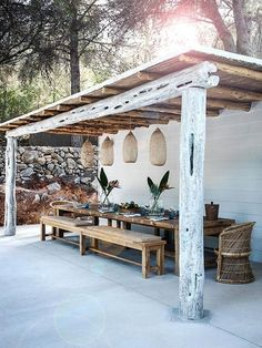 Pérgola de madera #homedecor #decoration #decoración #interiores
