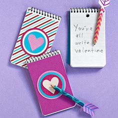 The Write Stuff: This cute pairing of pencil and pad makes a fitting gift for a school friend or teacher.
