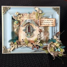 This bird frame was created using three specific objects for Creative Carte Blanche.  The complete tutorial can be found on my blog here: http://candycreates.blogspot.com/2016/03/triple-trouble-using-corrugated-paper.html