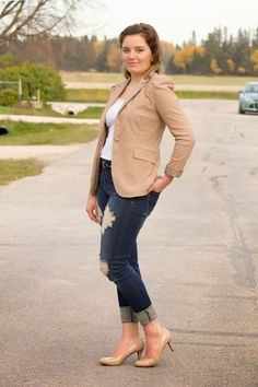 A Beautiful Mess: Blazer and Distressed Jeans - Finding Your Balance...