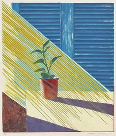 """David Hockney, """"Sunlight in Morning"""" (The Weather Series), 1973, Lithograph, 22 1/2"""" x 19"""""""