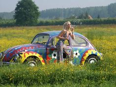 I've wanted a hippie VW Beetle since I was a kid...but I don't drive so won't happen!!