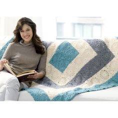Red Heart Square Upon Square Throw (Free) at WEBS | Yarn.com