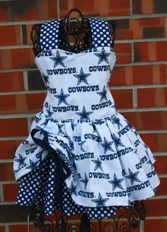 Dallas Cowboys peekaboo dress by sillygoosecreations2 on Etsy, $40.00