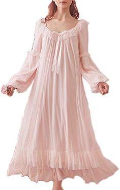 Lady Lolita Chemise de nuit Nightwear Sleepwear Chemise de nuit manches bouffantes dentelle volants
