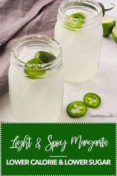Light and Spicy Margarita made with LaCroix or other sparkling water, lime juice, jalapeño and zero sugar. Add a little honey if you like sweetness. A weight watchers friendly skinny margarita recipe that is light and refreshing. Summer Drinks, Fun Drinks, Alcoholic Drinks, Low Calorie Tequila Drinks, Spicy Drinks, Summer Food, Party Drinks, Spicy Margarita Recipe, Spicy Skinny Margarita Recipe