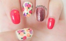 Easy Fall Floral Nails No Nail Tools Youtube Floral Nails