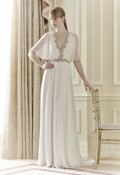 jenny+packham+dresses | wedding dress with beaded detail open back wedding dress with jeweled ...