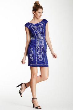 Alexia Admor Cap Sleeve Shift Dress