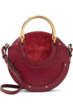 8d6867b246d1 Claret textured-leather and suede (Calf) Zip fastening along top Designer  color
