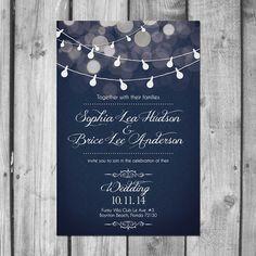 Jeu de lumière Strand mariage Invitation par ChristinaElizabethD, $2.50