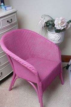 LLOYD LOOM CHAIR == ORIGINAL LABEL == STRONG UNCLOGGED WEAVE =DEEP SEAT DESIGN in Antiques, Antique Furniture, Chairs | eBay