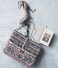 """Tango"" Pump & ""Glam Lock"" handbag, Valentino.    This bag <3"
