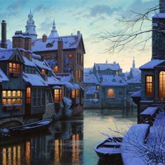 brugge by snow.