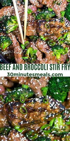 Beef and broccoli stir fry is a one pan dinner, ready in just thirty minutes. Recreate in your own kitchen the taste of Chinese take-out beef and broccoli. If you have extra time, marinating the beef will infuse it with extra flavor. #chinesefood #asianrecipes #30minutemeals #onepanrecipes #easyrecipe #beefrecipes Best Beef Recipes, Lunch Recipes, Easy Dinner Recipes, Asian Recipes, Favorite Recipes, Easy Recipes, Dessert Recipes, Beef Broccoli Stir Fry, Pan Fried Broccoli