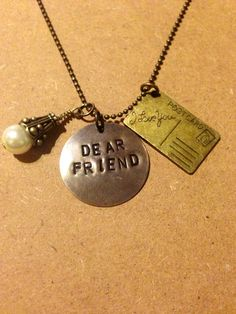 The Perks of Being a Wallflower inspired hand stamped necklace on Etsy, $20.00