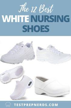 White Nursing Shoes, Best Nursing Shoes, Nursing Clothes, Nursing School Tips, Nursing Tips, Medical School, Best White Shoes, Nursing Shoes Comfortable, Water Resistant Shoes