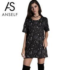 65ebd690f34 Awesome Cat Motive Long T-Shirt. Cute CatsHoodieShort Sleeve DressesOutfit  ...