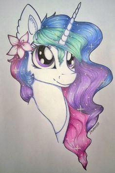 my little pony,Мой маленький пони,фэндомы,Princess Celestia,Принцесса Селестия,royal,mlp traditional art,mlp art