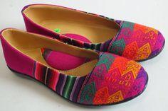 Woven Flats / Shoes / Balerina handmade size 7B by AkcireGlobal